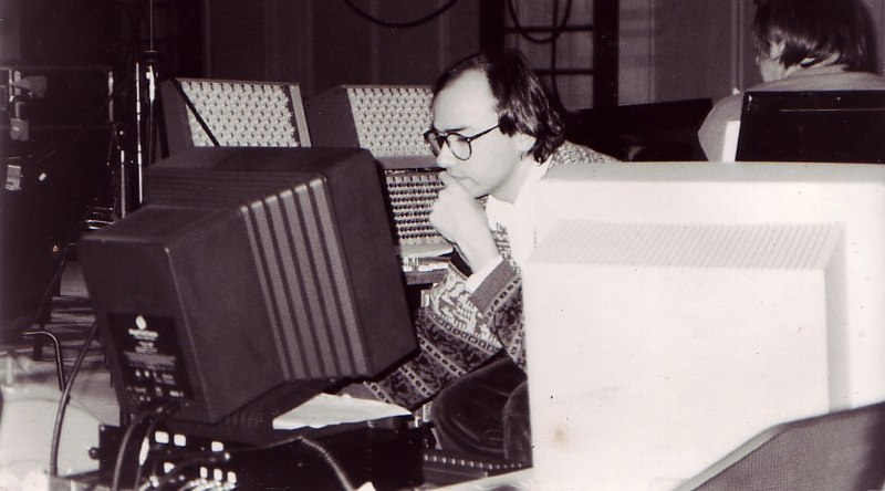 Christophe de Coudenhove devant la Station d'Informatique Musicale de l'Ircam