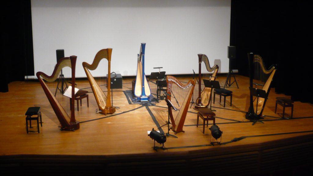 Plateau pour Harpes de toutes couleurs de Christophe de Coudenhove